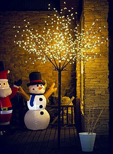 Fashionlite Christmas 8FT 600 LED Cherry Blossom Flower Tree Light Decoration...