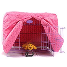 Alfie Pet by Petoga Couture - Glade Pet Polyester Crate Cover - Color: Pink, Size: XS