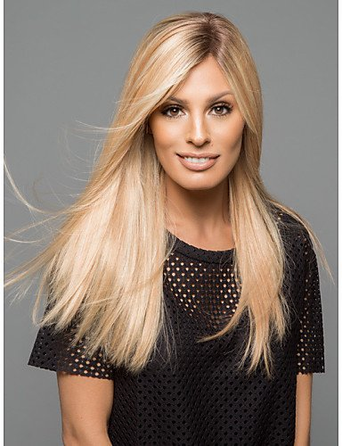 Beauty Fashion Wigs Capless Blonde Color Long Natural Straight Hair Synthetic Wigs (Website Ideas For Kids)