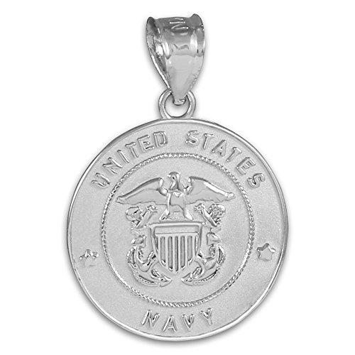 10 ct 471/1000 US-Marine Solide Blanc Or Piece de Monnaie Pendentif