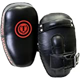 Triumph United Curved Leather Muay Thai Pad, Black, One Size