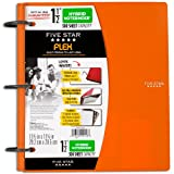 Five Star Flex Hybrid NoteBinder, 1.5-Inch Capacity, 11.5 x 10.75 x 2 Inches, Orange (72871)