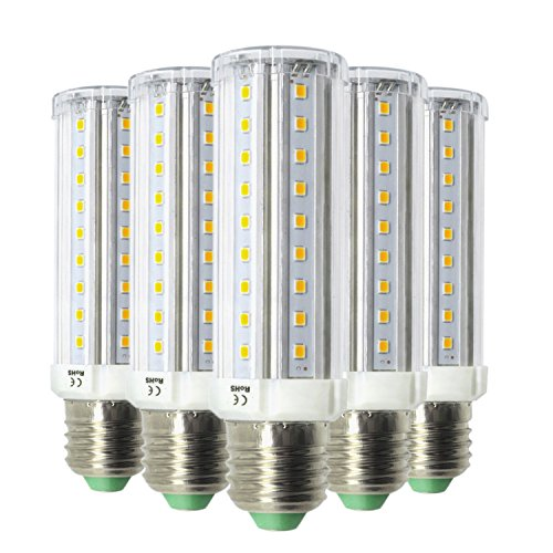 LLP-LED E27 LED Corn Light Bulbs 9W 58-2835SMD LED 800~900lm 6000-6500K 2800~3200K Dimmable For Living Room (5PCS) (Color : Cool White)