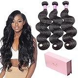 Glamorous Remi Peruvian Virgin Hair Body Wave Bundles 8A Unprocessed Virgin Remy Body Wave Hair 3 Bundles Body Wave Human Hair Extensions Weave 300g (24 24 24inch)