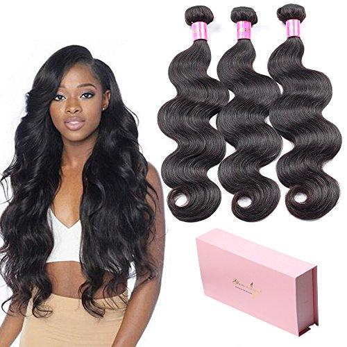 Glamorous Remi Peruvian Virgin Hair Body Wave Bundles 8A Unprocessed Virgin Remy Body Wave Hair 3 Bundles Body Wave Human Hair Extensions Weave 300g (24 24 24inch) by Glamorous Remi