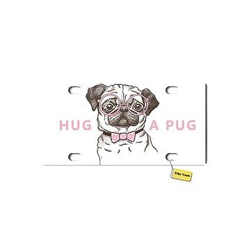 Amazon.com: Hug A Pug Cute Dog DIY Personalized Printed Fashion ...