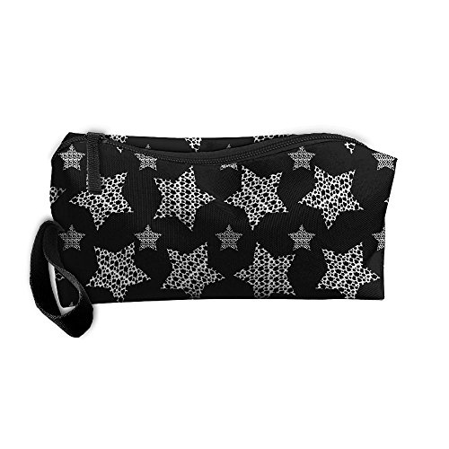 Cow Dot Stars Cow Lover Gift Multi-functional Cosmetic Makeup Bag Zipper Closure Bags Toiletries Organizer Bag