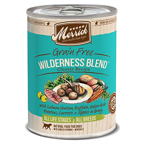 Merrick Classic Grain Free Wilderness Blend Wet Dog Food, 13.2 oz, Case of 12 Cans