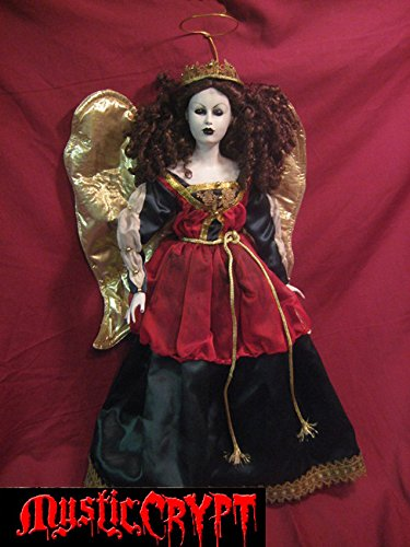 Large Holiday Angel w Gold Wings Horror Doll by Bastet2329 Christie Creepy Dolls -