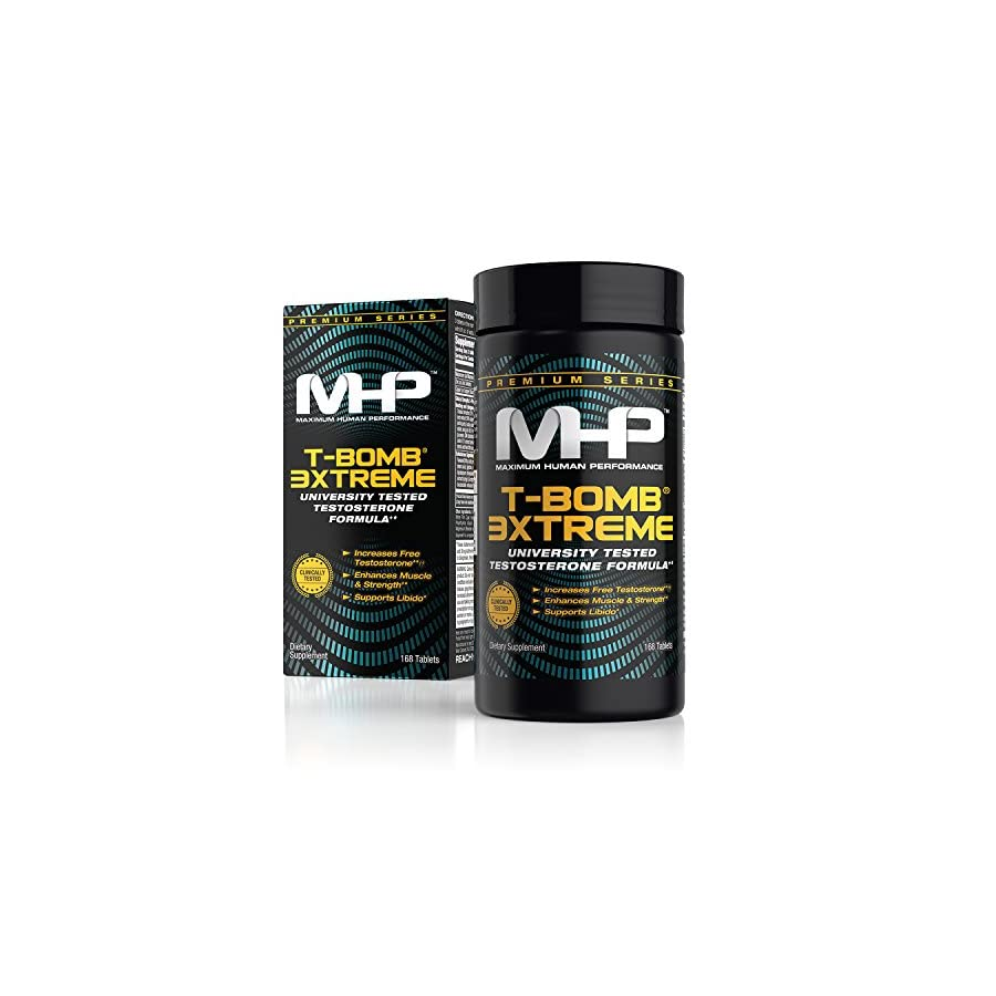 MHP Clinical Strength T Bomb 3xtreme, Five Phase Hormone Optimizing Complex, Testosterone Booster for Men 168 Count