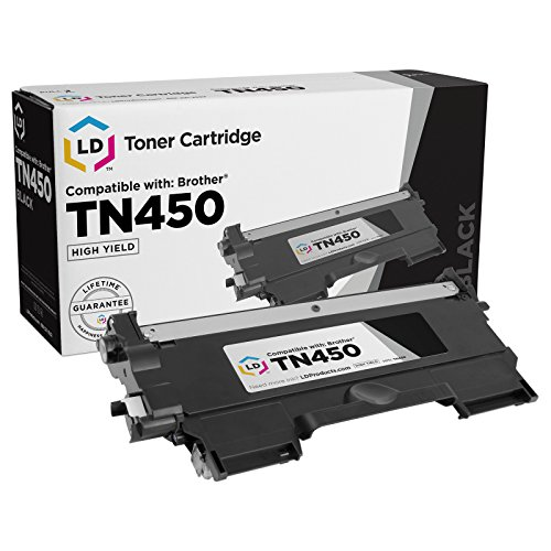 LD Compatible Toner Cartridge Replacement for Brother TN450 High Yield (Black)
