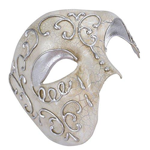 Men's Masquerade Mask Phantom Of The Opera Vintage Half Face Mask (Vintage Masquerade Mask compare prices)