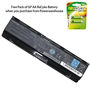 Powerwarehouse Toshiba Satellite C855D-S5320 Laptop Battery - Genuine Toshiba Battery 6 Cell