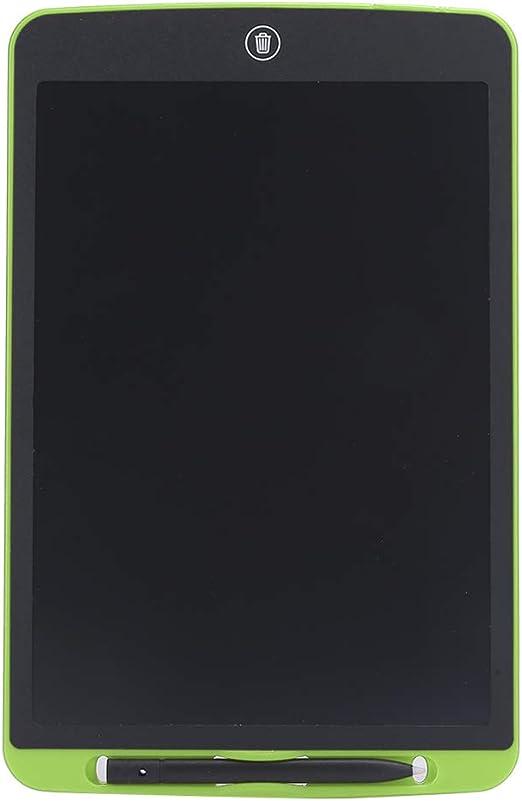 LEDバックライトグラフィックスタブレットなし、12インチLCDライティングボード、ABS素材ポータブルで家族向けの軽量(green)