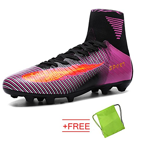 VITIKE Football Boots Sneakers Professional Outdoor Soccer Shoes Teenagers Training Shoe(EU40-Purple) ne247g2fFY