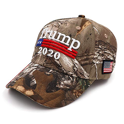 (NYKKOLA Trump 2020 Hat Caps Keep America Great Campaign Embroidered USA MAGA Hat, Baseball Bucket Trucker Cap)