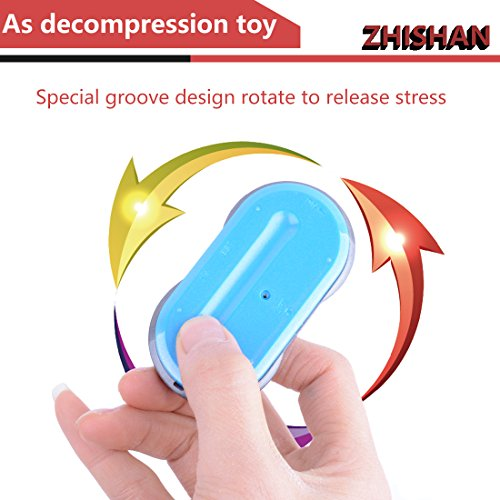 ZHISHAN Retro Games Controller Mini Classic Handheld Game Console Toys for Kids Gamepad Joystick Support Dual Battle Load in 260 Video Games Connect and Play with TV Gaming Station (Black+Blue) by ZHISHAN (Image #4)