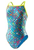 Speedo 8191569 Womens Printed Propel Back Swimsuit, Blue - '6/32