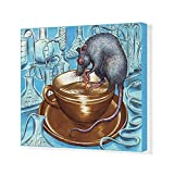 foto laboratory - 20x16 Canvas Print of Rat drinking Coffee (13299265)