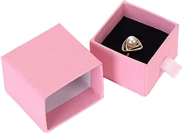 chunnron Caja de Regalo Pulsera Caja de Regalo Anillo De Caja Organizador de la joyería Cuadrado Caja de joyería Cajas de brazaletes para Mujer Ring Box: Amazon.es: Hogar