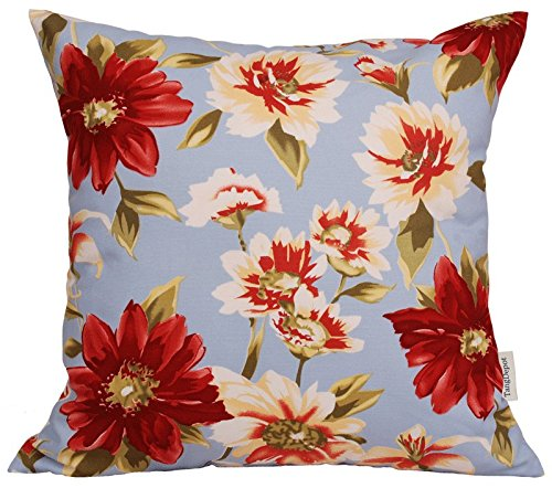 TangDepot174; 100% Cotton Floral/Flower Printcloth Decorative Throw Pillow Covers/Handmade Pillow Shams - Many Colors, Sizes Avaliable - (16