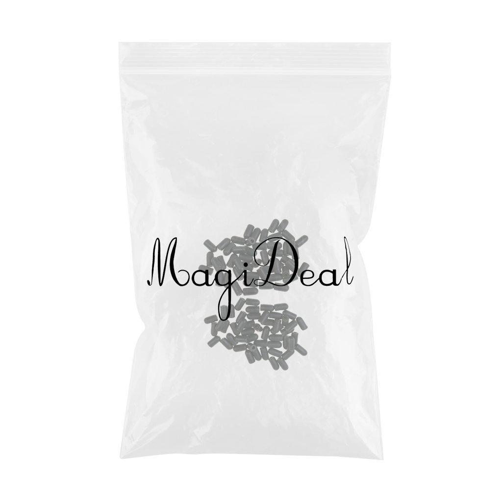 Abdeckung an Wirbeln MagiDeal 100 St/ück Buffer Perlen Geeignet als Knotenschutz