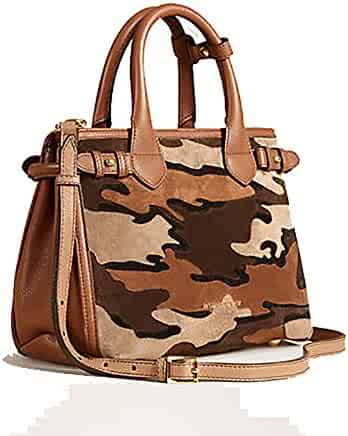 a2139a1b3c Tote Bag Handbag Authentic Burberry The Small Banner in Camouflage Suede  Tan Item 39906841 Made in