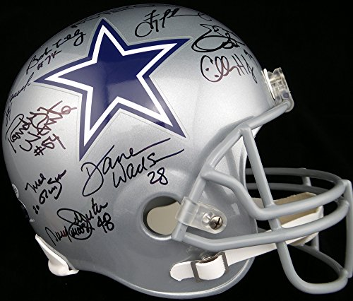 Dallas Cowboys Team Greats Autographed Full Size Helmet With 23 Signatures Including Emmitt Smith, Troy Aikman & Michael Irvin Beckett BAS ()