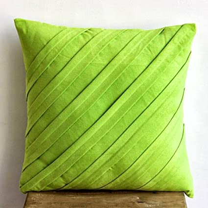 pillow case texture. Lime Green Decorative Pillows Cover, Textured Pintucks Solid Color Throw  Pillow Covers Pillow Case Texture N