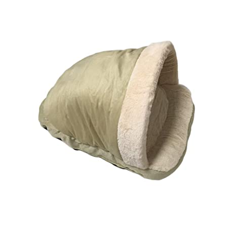 JEELINBORE Cálido Saco de Dormir Casa Perro Suave Acogedor Bolsas Cama Perrera para Perros y Gatos