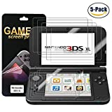 #2: Nintendo 3DS XL Screen Protector (5x Top + 5x Bottom) PET Full Coverage Highly Definition Screen Protector for Nintendo with Not Bubble Super Thin Anti-Glare & Anti-Fingerprint (Matte) by FENGWANGLI