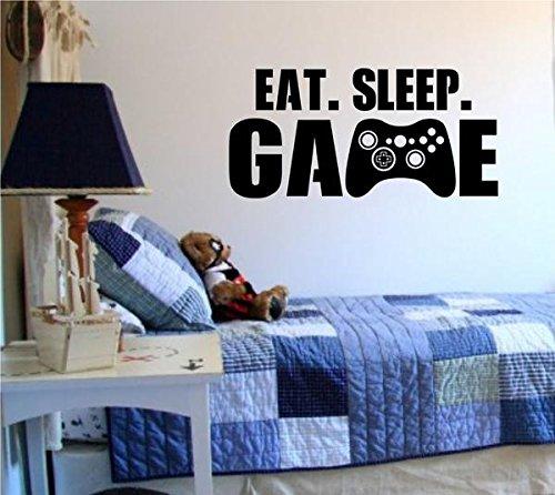 Eat Sleep Game Version 101 Gamer Video Game Decal Sticker Wall Boy Girl Teen Child Sport Fight