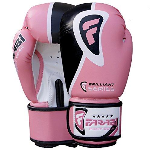 Farabi Brilliant Boxing Gloves Sparring Gym Bag Punching Focus Pad Mitts (12Oz)