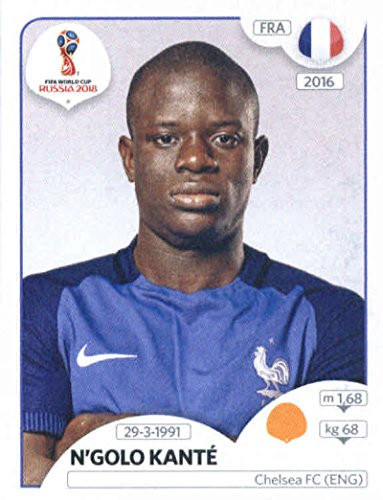 2018 Panini World Cup Stickers Russia #202 N'Golo Kante France Soccer Sticker