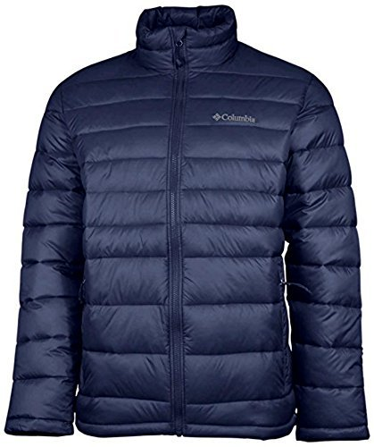 COLUMBIA Men NEW DISCOVERY Water Resistant Winter Bomber Jacket (X-Large, Navy) by Columbia