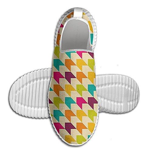 意志インスタント細心のdiamondsjunユニセックスヴィンテージデザインwithレインボーVivid Colored All Over 3d Printed Mesh Slip Onファッション快適な靴