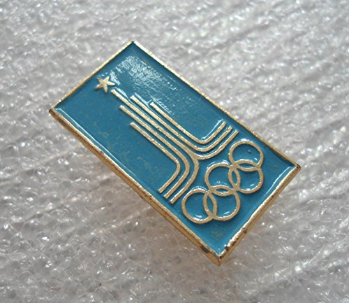1980 Soviet Union Russia Olympic Summer Games Moscow Logo Pin Badge ()