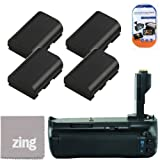 Battery Grip Kit for Canon EOS 5D Mark III Digital SLR Camera Includes Qty 4 Replacement LP-E6 Batteries + Vertical Battery Grip + More!!