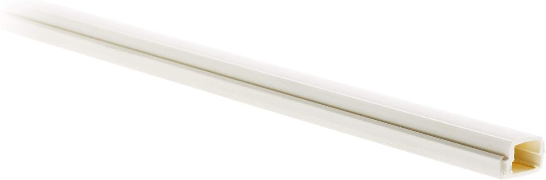 - Blanc Pur RAL 9016 Goulotte pour c/âble TV 10x 16 Barre de longueur 2m hauteur x profondeur, en mm
