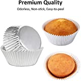 Caperci Silver Foil Cupcake Muffin Liners Standard