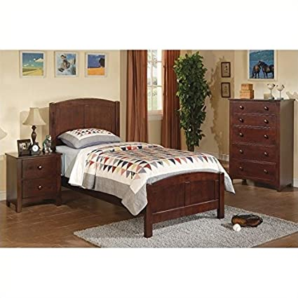 Poundex 3 Piece Kids Twin Size Bedroom Set In