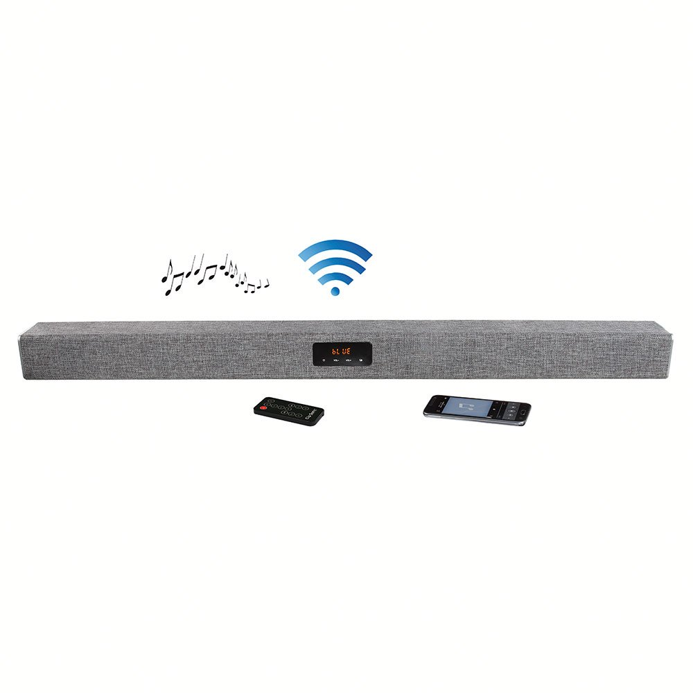 Clip Sonic Technology tes163 Barra de Sonido Bluetooth 40 W para Smartphone/iPhone/Tablet/PC Negro