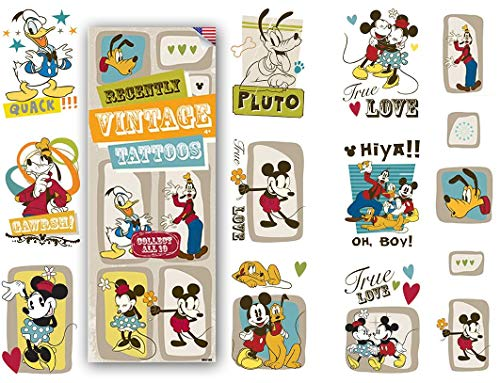 Disney Vintage Mickey Mouse Set of 10 Tattoos - Great for Party Favors!