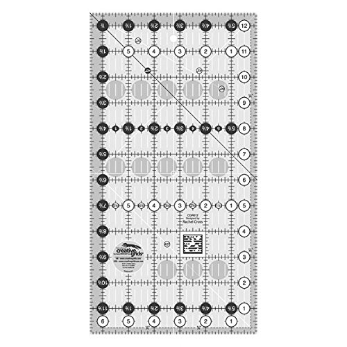 "Creative Grids 6.5"" x 12.5"" Rectangle Quilting Ruler Template CGR612"