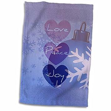 Ángel adornos Patricia Sanders Navidad - amor, paz, alegría adorno de Navidad con Snowflakes- Art - X toalla (Twl _ _): Amazon.es: Hogar