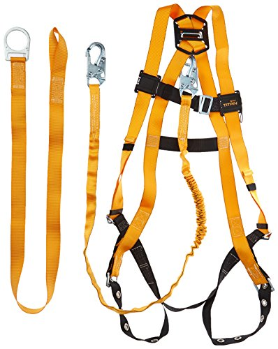 Titan ReadyWorker Fall Protection Kit with Harness, Lanyard & Cross-Arm Connector, Universal Size-Large/XL (TFPK-5/U/6FTAK)