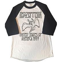 LED Zeppelin Rock Band Tribute Shirt Men's Baseball 3/4 Sleeve Tee New