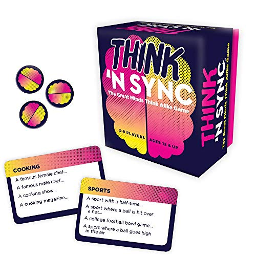 🥇 Gamewright Think 'N Sync – The Great Minds Think Alike Game Card Game