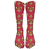 Cartoon Leopard Girl Ourdoor Boot Socks Long Sports High Socks