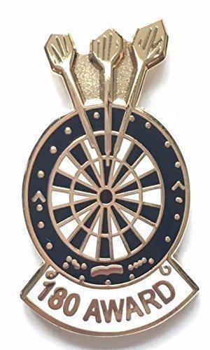 Set of 3 Darts Badges Inc 180 /& Dart Board Metal Enamel Pin Badge Set NEW